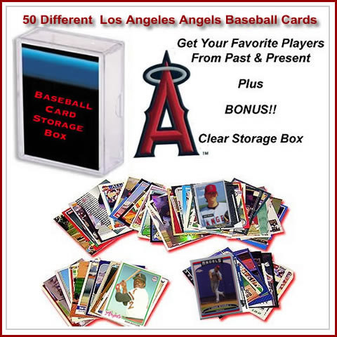 50 Assorted Los Angeles Angles Baseball Cards