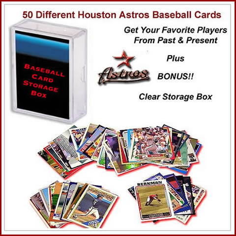 50 Assorted Houston Astros Baseball Cards