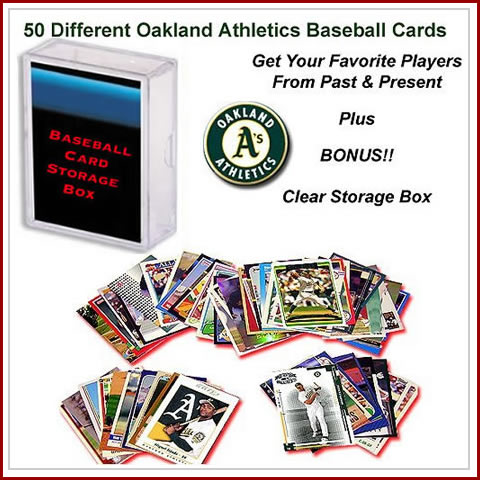 50 Assorted Oakland Athletics Baseball Cards