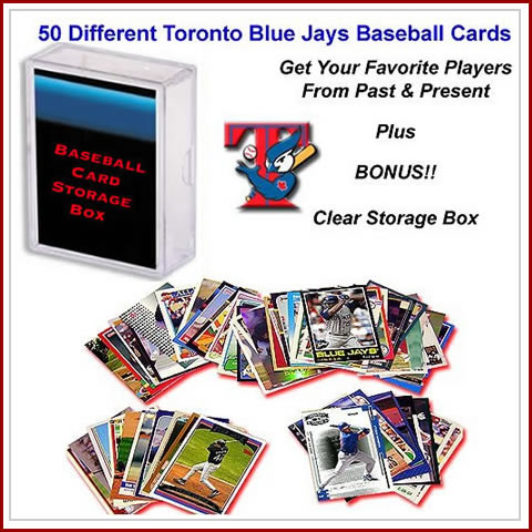 50 Assorted Toronto Blue Jays Baseball Cards