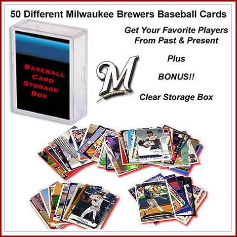 50 Assorted Milwaukee Brewers Baseball Cards