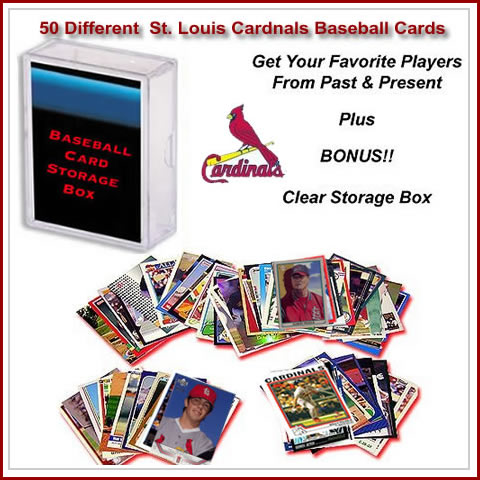 50 Assorted St. Louis Cardnals Baseball Cards