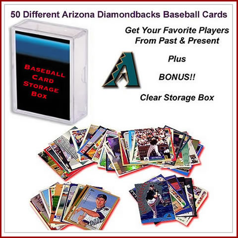 50 Assorted Arizona Diamond Backs Baseball Cards