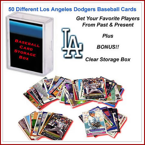 50 Assorted Los Angeles Dodgers Baseball Cards