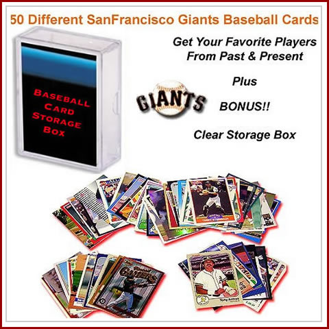 50 Assorted San Franciso Giants Baseball Cards