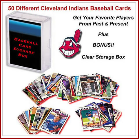 50 Assorted Cleveland Indians Baseball Cards