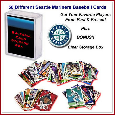 50 Assorted Seattle Mariners Baseball Cards
