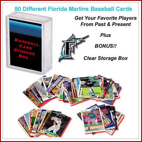 50 Assorted Florida Marlins Baseball Cards