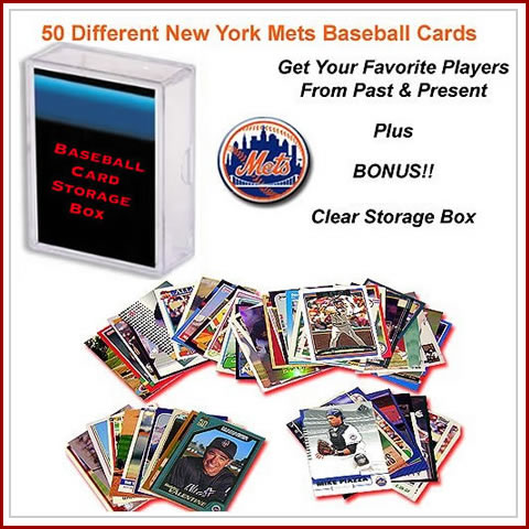 50 Assorted New York Mets Baseball Cards