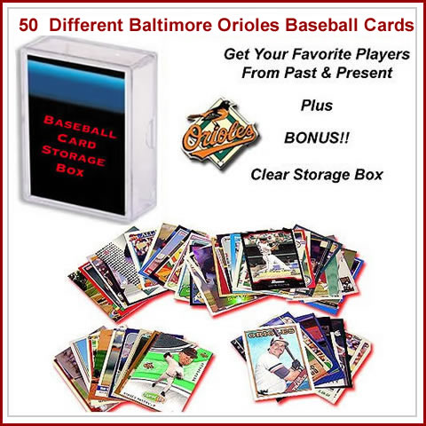 50 Assorted Baltimore Orioles Baseball Cards