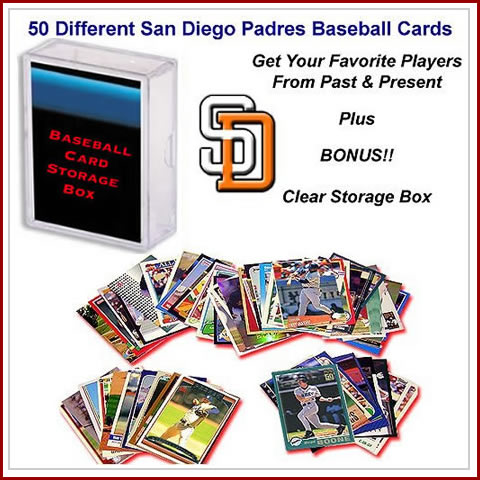 50 Assorted San Diego Padres Baseball Cards