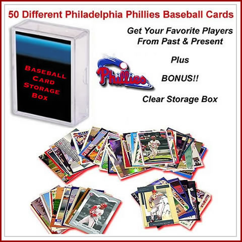 50 Assorted Philadelphia Phillies Baseball Cards