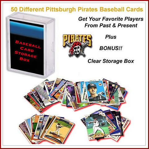 50 Assorted Pittsburgh Pirates Baseball Cards