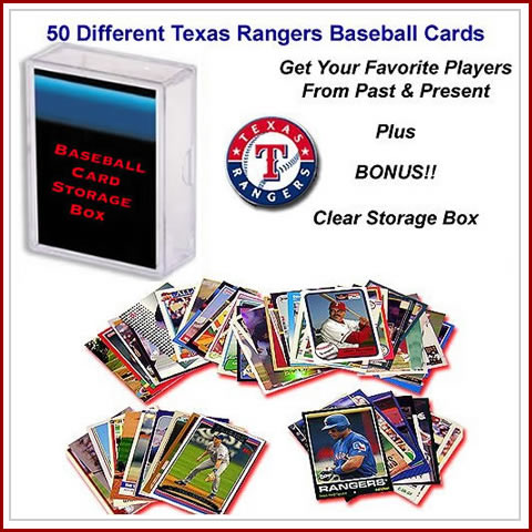 50 Assorted Texas Rangers Baseball Cards