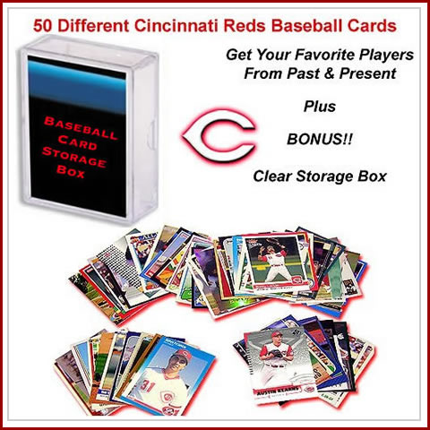 50 Assorted Cincinnati Reds Baseball Cards