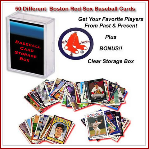 50 Assorted Boston Red Sox Baseball Cards