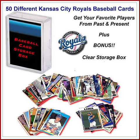 50 Assorted Kansas City Royals Baseball Cards