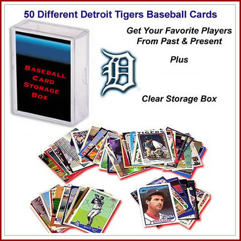 50 Assorted Detroit Tigers Baseball Cards
