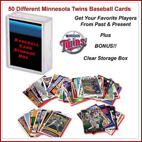 50 Assorted Minnesota Twins Baseball Cards