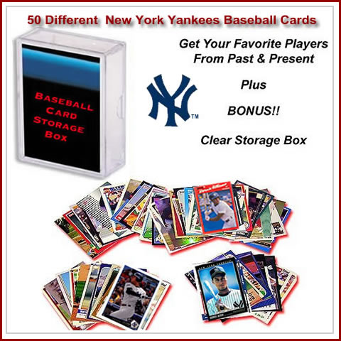 50 Assorted New York Yankees Baseball Cards